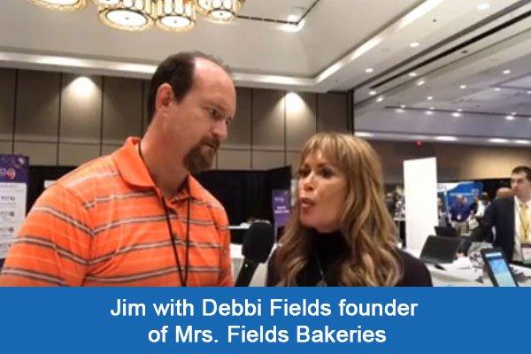 Debbi Fields with Jim Rembach